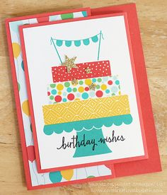 Card Creations by Beth: First Build A Birthday Card