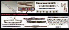 Le cinture sono un accessorio d'abbigliamento comune a molti popoli, tra le etnie delle praterie, cinture riccamente decorate erano parte dell'abbigliamento specialmente di quello femminile. Avevano sia uno scopo pratico che decorativo. Qui sono esposti alcuni esempi decorati con conterie d'importazione