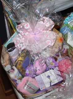 Pink Spa Mothers Day Basket