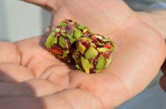 Pomegranate and pistachio Turkish delight
