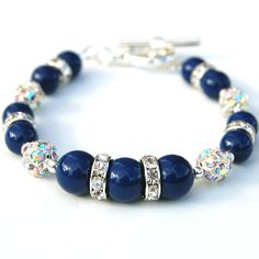 Jewelry Dark Lapis Blue Bling Bracelet by AMIdesigns