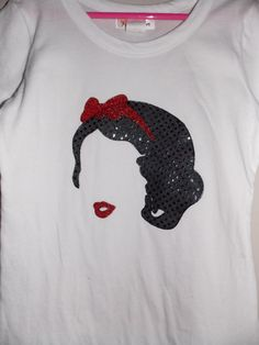 Snow white silhouette shirt by ValsCreativeCorner on Etsy, $16.00