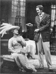 "With John Lithgow in ""Trelawny of the Wells,"" Public Theater (Beaumont), NYC, 1975"
