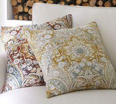 Celeste Pillow Cover #potterybarn. Lighter color as accent pillow on Kendra blue duvet