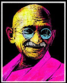 Image result for indian pop art ghandi