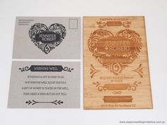 Wood Wedding Invitations, Wood Invitation, Wedding Stationary, Invitation Cards, Wood Themed Wedding, Wedding Reception Themes, Themed Weddings, Wedding Day, Rustic Wedding Inspiration