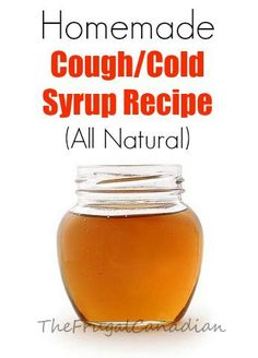 Homemade Cough Cold Syrup Recipe (All Natural) DIY
