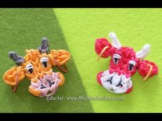 Tutorial Rainbow Loom of Laughing Cow or cow head.