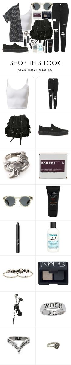 """""""don't you remember"""" by velvet-ears ❤ liked on Polyvore featuring Bliss and Mischief, Topshop, AllSaints, Vans, Gaspard Hex, Korres, Illesteva, Smashbox, NARS Cosmetics and Bumble and bumble"""