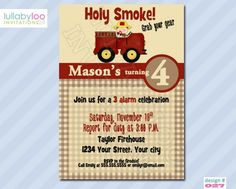 Holy Smoke Fireman Birthday Invitations (027)