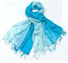 Etole en pashmina turquoise clair #mesecharpes.com http://www.mesecharpes.com/etole/etole-pashmina/etole-en-pashmina-turquoise-clair.html