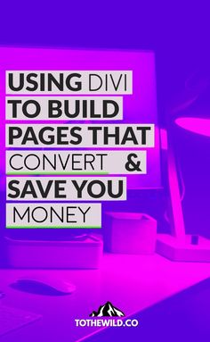 Using Divi to Build Landing Pages that Convert and Save You $$$ Divi is one of the most adaptable WordPress themes out there. You can customize your blog design, create individual landing pages, and add cool, unique elements to your blog posts with just