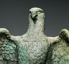 Roman bronze eagle from Asia Minor. ca. 1st - 3rd cent. BCE. The Getty Museum.
