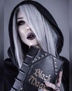 Gothique Wicca Noir Crâne Angels-Halloween Emo