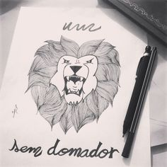 Um leão sem domador... Ei, meu bem, só há um sabor Que entretém quem é caçador Nos convém que eu sou ator Enquanto houver acreditador...  #PittyLeone #UmLeao #Leão  #Rock #Drawing #Desenho #Draw #Desenhando #projeto #ilustração #frase #musica...