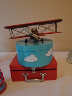 Airplane themed centerpiece