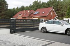 Zielona Góra - realizacje ogrodzeń — FENZ House Fence Design, Modern Fence Design, Entrance Gates, Fence Panels, Staircase Design, New Homes, Fence Ideas, Fencing, Fences