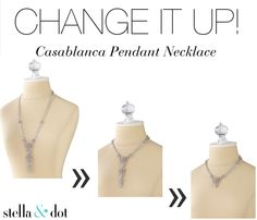 Change It Up! In love with this Art Deco-inspired, pavé-encrusted, Casablanca Pendant Necklace. Can be worn long or short! | Stella & Dot www.stelladot.com/sarafilipski