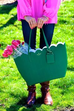 Love this Kate Spade tote! Different color, but I love the bag