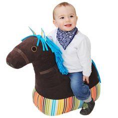 LOUyLOU Stoffpferd für Kinder von 1-5 Jahre. Tolle Alternative zum Schaukelpferd und Plastik-Hüpfpferd.