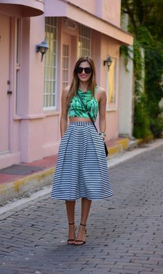 What to Wear with Full Skirts this Summer waysify