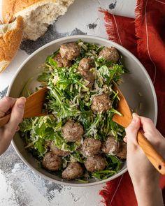 Turkey Meatballs & Orzo Salad