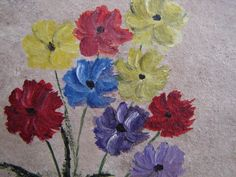 Shabby chicvintage handpainted flowerssmall by shabbyfrenchstyle, $10.00