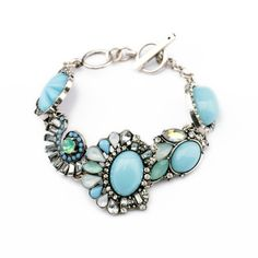Hot sales 2014 New Fashion Crystal Bracelets & Bangles Fashion Shourouk Bracelets Light Blue Bracelets for Women Wholesale $8.68