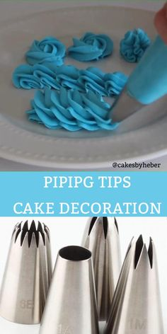 Use different piping nozzle for brautiful cake decoration Cake Decorating For Beginners, Creative Cake Decorating, Cake Decorating Set, Cake Decorating Videos, Cake Decorating Techniques, Creative Cakes, Cake Piping Techniques, Bolo Drip Cake, Drip Cakes