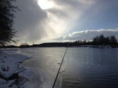 First signs of open water. Sinking line w/ streamer at Valkeakoski.