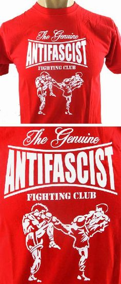 Camiseta roja - Kick Boxing - The Genuine Antifascist Fighting Club. Pedidos: www.barrio-obrero.com Síguenos en: www.facebook.com/AntifascistFightingClub
