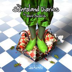 Theatre poster of the week, TheSantaland Diaries.By David Sedaris.