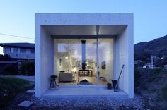 """This contemporary home in Nagoya, Japan, was nicknamed """"The Nest House"""" by architect Takuya Tsuchida, who wanted to """"give the feeling of living in a nest"""" without feeling tied to a nest's natural form. """"I abstracted the nest idea and used it as a starting point for the home's architecture,"""" says Tsuchida."""