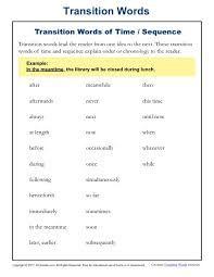Image Result For Transition Words Transition Words Worksheet