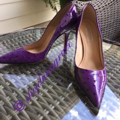"""Michael Kors Purple Ostrich Pumps💜HP💜 Gorgeous Michael Kors Purple Paton Ostrich Pumps. Brand new without box. 4"""" heel.  Office Style HP chosen by 💕@the4lusters  6/13. Check out her Beautiful closet!💕💕😘💕   💄HP💄 Chosen 8/13 by 🌺Jennifer🌺 @jenbcloset Vacation Vibes Party🎉 Check out Jennifer's 🎀Beautiful🎀 closet! Michael Kors Shoes Heels"""