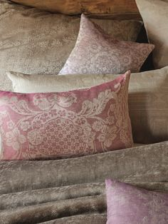 Linen-pillow in our Imperial pattern in colour Zyklame. Linen Pillows, Bed Pillows, Cushions, Sleep Well, Apartments, Pillow Cases, Pattern, Color, Colors