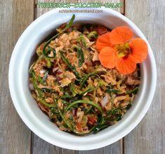 Thunfisch-Zucchini-Salat low carb – schlank mit verstand