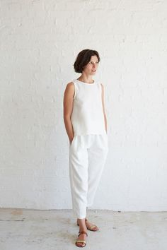 One Yard Sewing Project: The Essential Linen Tank Tutorial