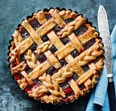 How to make a lattice pie topping... as seen on our September cover - delicious. magazine