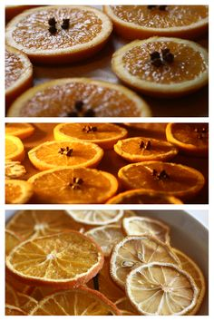 to dry citrus fruit for festive decorations