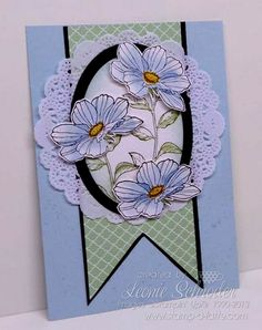 Stampin' Up! Cruise Swap ... watercoloured Peaceful Petals, Gorgeous Grunge, Doillies, Oval Framelits. #stampinup #swap #watercolor
