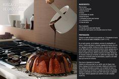 Rosca glaseada de chocolate, gracias a Wolf www.projects.ec