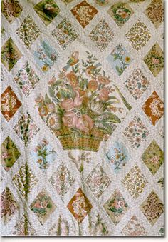 Jane Austen's quilt at Chawton. Funny, looks sort of like mine. Coincidence?! Yea, probably.