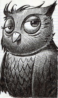 Zentangle Owls por flowerlily1 em Flickr
