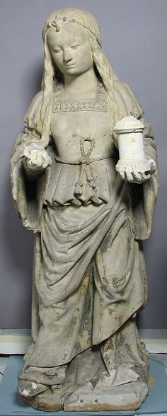 Mary Magdalene |  Date: 16th century; Culture: French; Medium: Stone, paint; Classification: Sculpture | This artwork is not on display at the MET