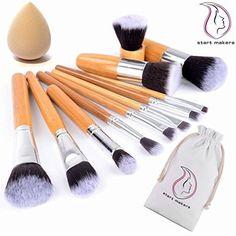 Start Makers® Bamboo Makeup Brushes -12pcs Natural Make Up Brushes - Vegan Up in Health & Beauty, Make-Up, Make-Up Tools & Accessories | eBay