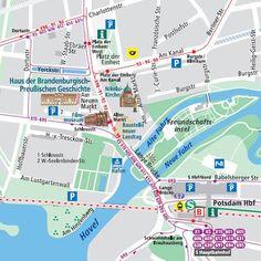 Plan de la ciudad Potsdam
