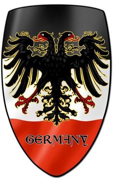 Vintage and Retro Tin Signs - JackandFriends.com - Germany Shield Custom Shape Metal Sign 21 x 32 Inches, $94.98 (http://www.jackandfriends.com/germany-shield-custom-shape-metal-sign-21-x-32-inches/)