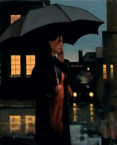 Jack Vettriano, OBE is a Scottish painter. His 1992 painting, The Singing Butler, became a best-selling image in Britain. For biographical notes -in english and italian- and other works by Vettriano see: Jack Vettriano, 1951 Jack Vettriano, Paul Gauguin, Oil Painting For Sale, Paintings For Sale, Figure Painting, Umbrella Art, Foto Art, Pulp Art, Nocturne