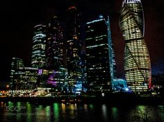 Moscow City at night by angu1ss. @go4fotos